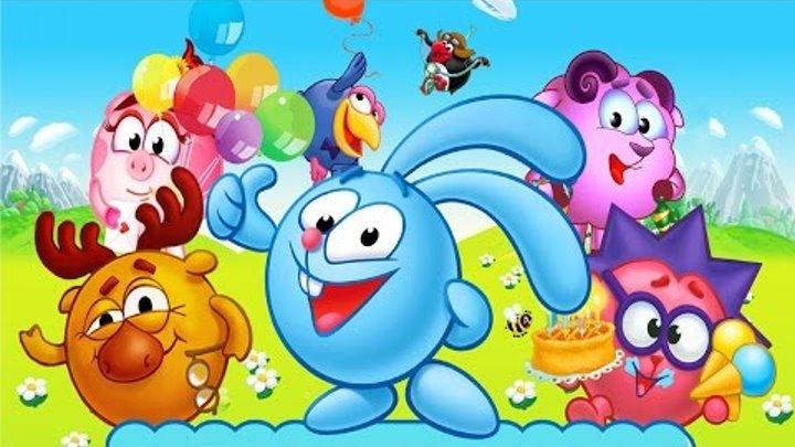 Смешарики - Новые приключения . Говорящий Крош – Детский игровой мультик для детей!