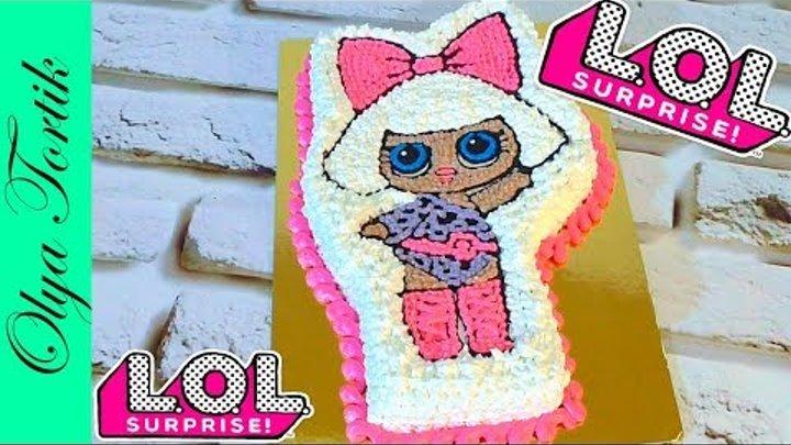 Торт кукла ЛОЛ Cake Doll LOL Кремовые торты Украшение тортов /// Olya Tortik Домашний Кондитер