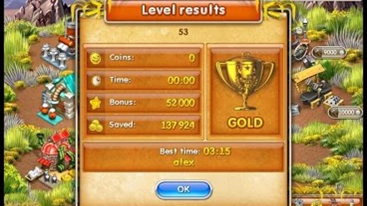 Farm Frenzy 3 American Pie (level 53) only GOLD Веселая ферма 3 Американский пирог Уровень 53 Золото