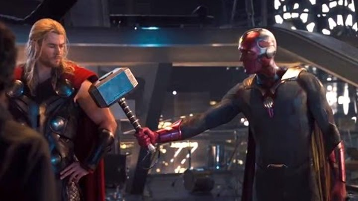 Avengers Age Of Ultron CLIP – Vision Lifts Thor's Hammer (HD) Marvel Superhero Movie 2015