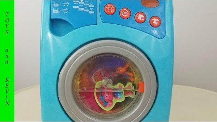 Волшебная стиральная машина с сюрпризами Детские игры и видео для детей про игрушки ТРОЛЛИ 2016
