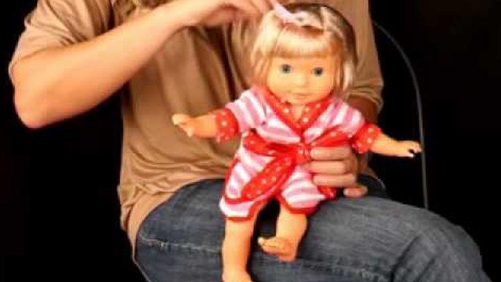 """Кукла интнрактивная. Аня """"Я чищу зубки. Кукла научит ребенка чистить зубы"""
