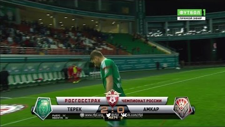 Обзор матча: Футбол. РФПЛ. 28-й тур. Терек - Амкар 2:0