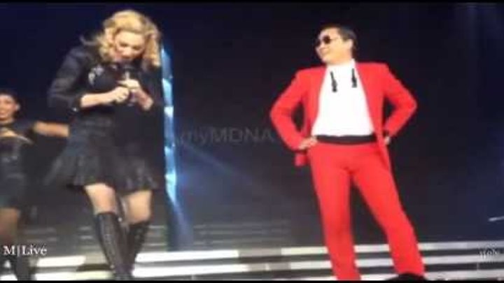 #PSY & #Madonna Gangnam Style Give it 2 Me, Music 13 11 2012 Madison Square Garden New York
