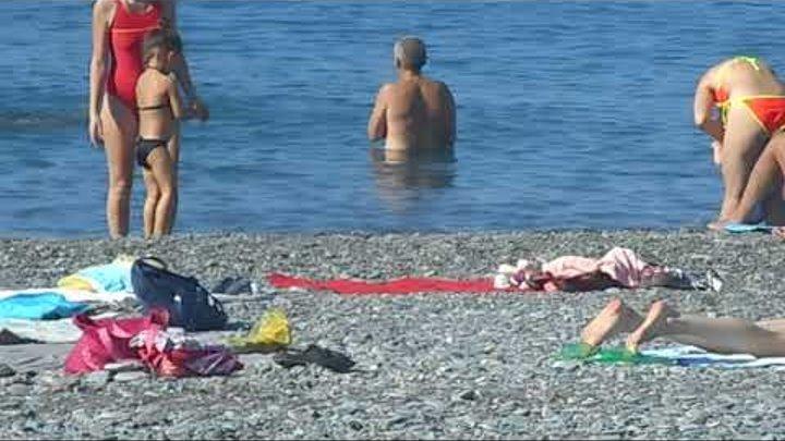 """Сочи. Пляж """"Ривьера"""". Бархатный сезон продолжается! (16 октября 2018 года)"""