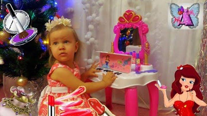 Играем в Салон Красоты с пианино Косметика Украшения КАК МАМА Мультик для детей