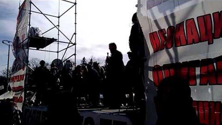 06 04 2014 Одесса Выступление Олега Царева со сцены антимайдана на Куликовом поле