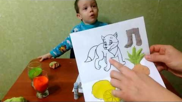 Развивающее видео для детей.Алфавит.Тесто-пластилин.Разноцветный песок