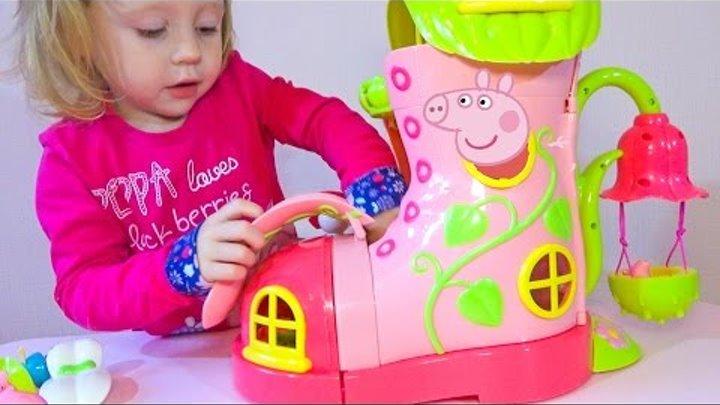 Свинка пеппа и волшебный домик с секретом Распаковка волшебного сапожка Игрушки для детей Peppa pig