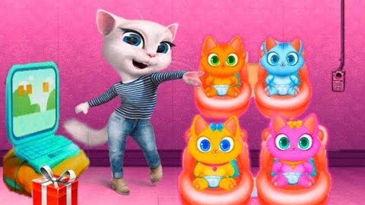 МОЯ ГОВОРЯЩАЯ АНДЖЕЛА #106 Говорящий Том и друзья Мультик про котиков Мульт ИГРА # УШАСТИК KIDS