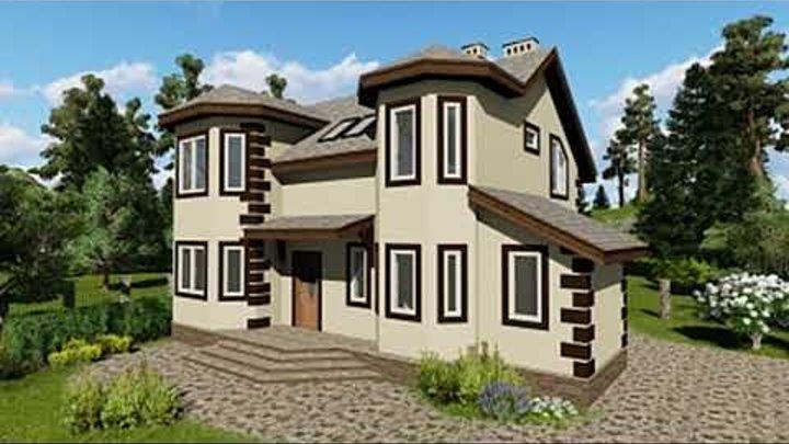 Красивые проекты загородных домов из газобетона. Оформление недвижимости.