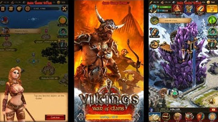 Vikings: War of Clans (EN) - First look at the strategy game (Android Gameplay)