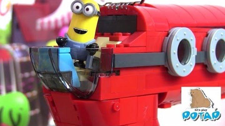 Миньоны Мультик Supervillain Jet! Mega Bloks Игрушки для Детей. Игры для Детей. Видео для Детей