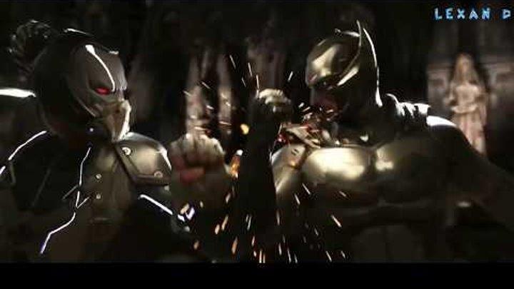Injustice 2 - Batman vs Bane - Intros & Clashes (Бэтмен против Бэйна) rus