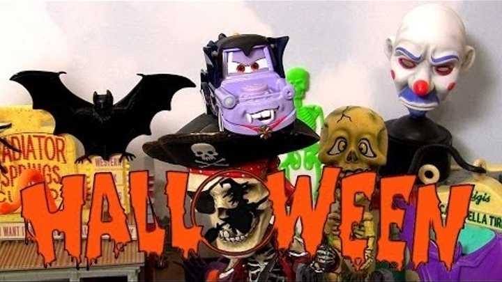Cars 2 Dracula Mater Play Doh Halloween in Radiator Springs Disney Pixar Mattel car toys playdough