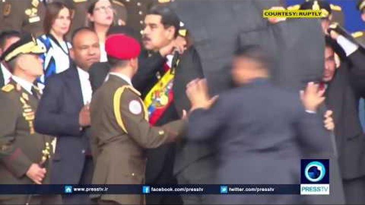 На президента Венесуэлы Мадуро совершили покушение при помощи дронов.
