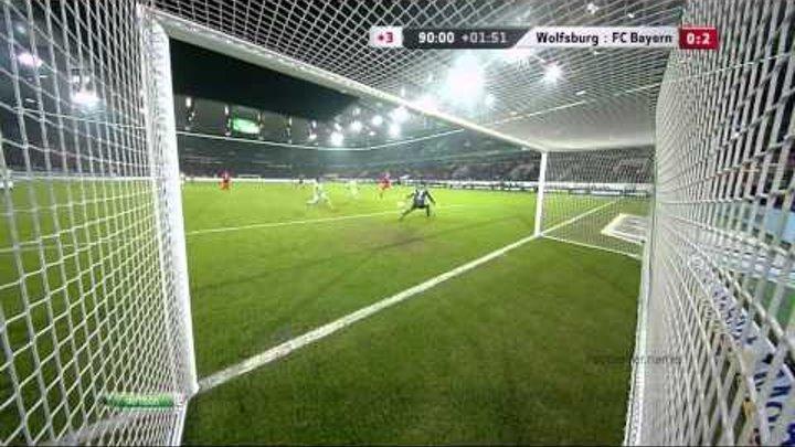 Арьен Роббен видео гол Вольфсбург Бавария Чемпионат Германии по футболу 22