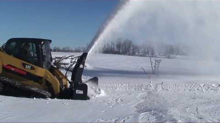 Skid Steer Snow Blower Attachment High Flow Quick Attach QA2410