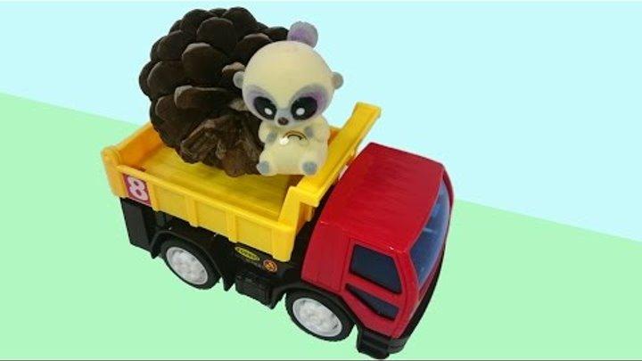 Развивающее видео про грузовичок и Игрушки Юху и его друзья, Юху и Чиву готовятся к новому году