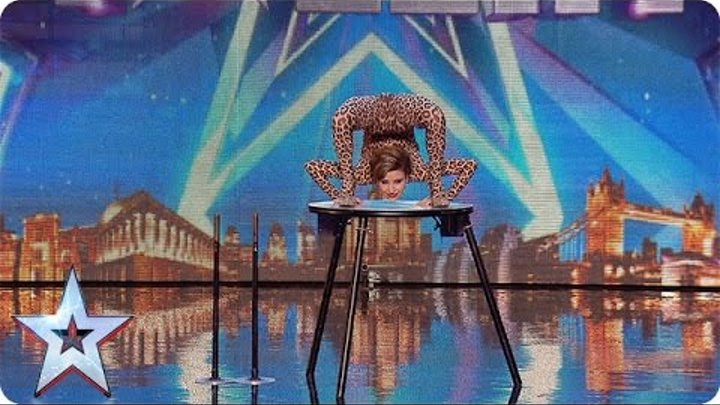 Magdalena bends over backwards for the Judges | Audition Week 1 | Britain's Got Talent 2015