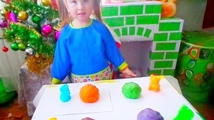 Делаем тесто для лепки Плей До сами Смешиваем цвета Фигурки из теста Play-Doh Самый простой рецепт