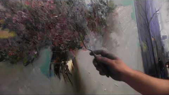 Пишем букет МК в Киеве 25 09 2013, часть 7 Мастер класс Художник Игорь Сахаро