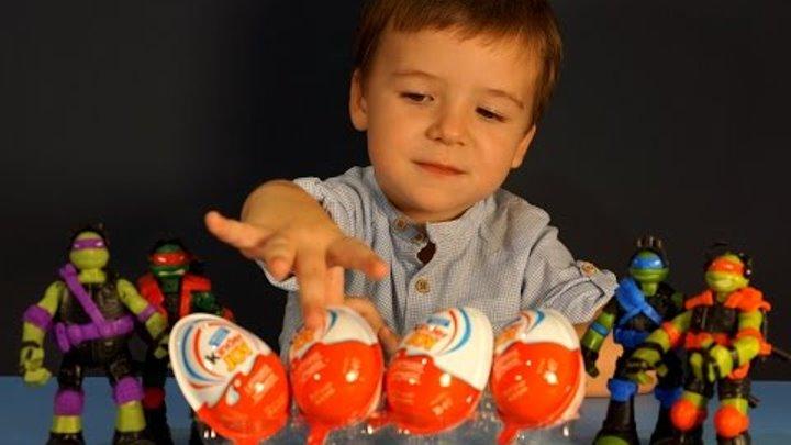 Киндер Джой Черепашки Ниндзя на русском языке. Kinder Joy TMNT Eggs Unboxing.