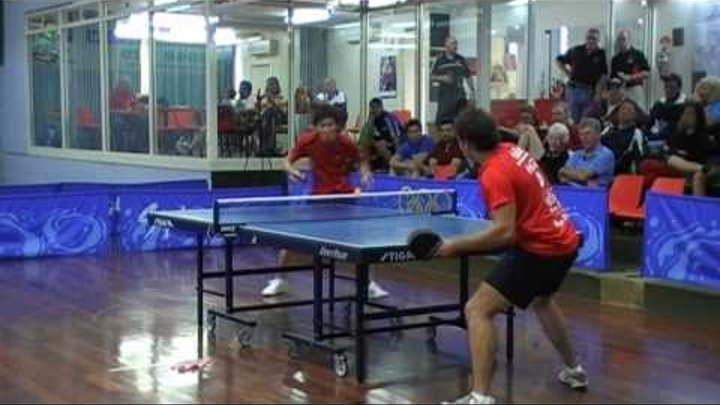 Table Tennis match -Spectacular!! hd