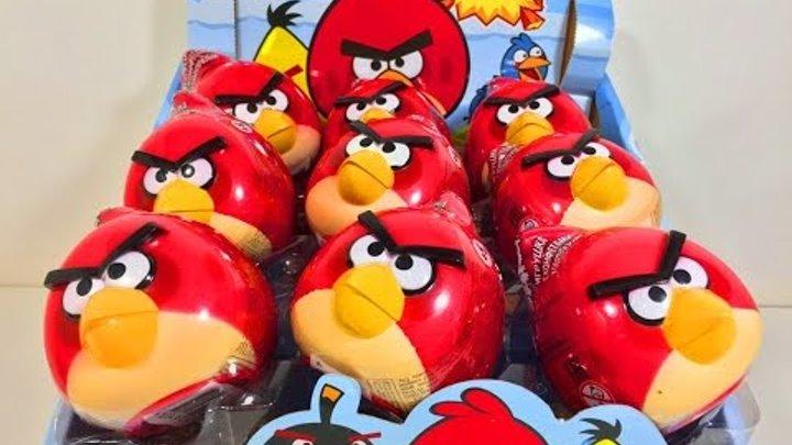 Киндер Яйца Сюрприз по мультику Энгри Бёрдс,Unboxing Surprise Eggs Angry Birds