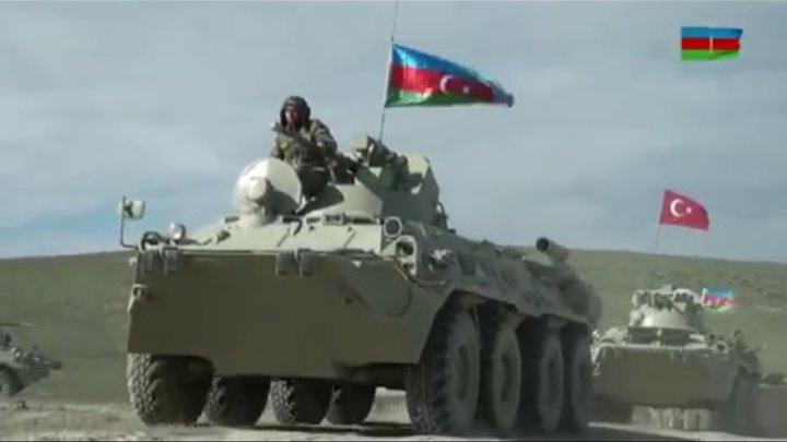 Азербайджано-турецкие совместные тактические учения. Azerbaijan-Turkey joint tactical exercises.
