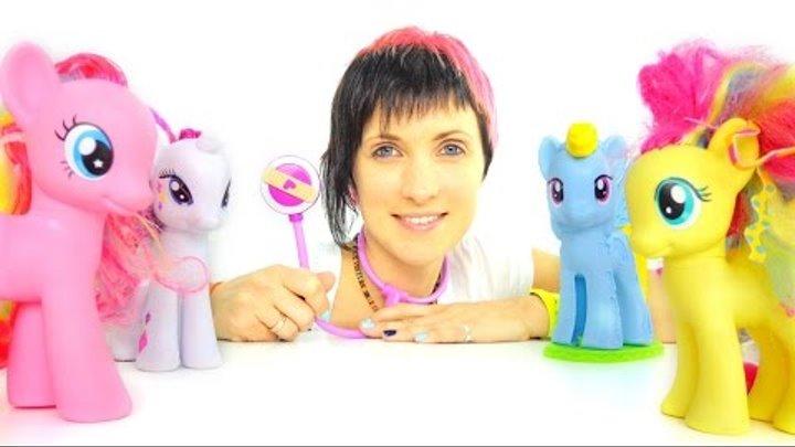 Видео для детей. Играем в доктора. Игрушечные Пони, Маша и ветеринарная клиника