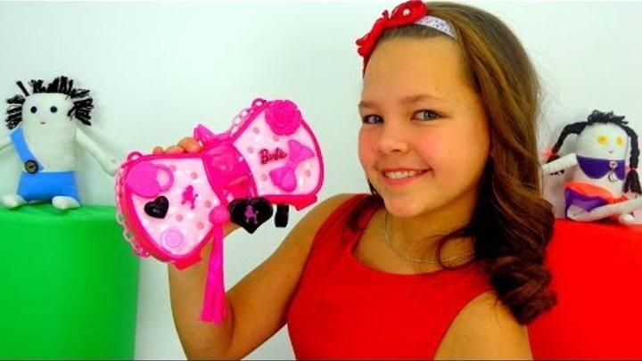 Аксессуары для девочек! Волшебная сумочка Барби! Лучшая подружка Настя!