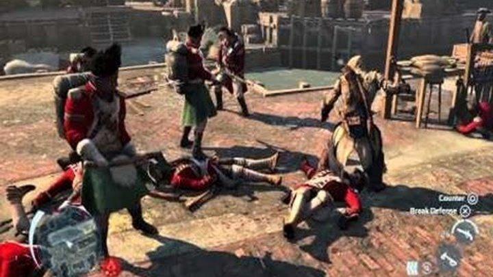 Assassin's Creed III — Геймплей Бостон. Русские субтитры! (HD)