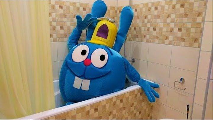 Смешарики новые серии Неожиданный гость в ванной Smeshariki 2016