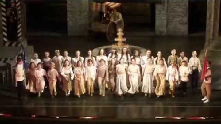 "Bizet ""CARMEN"" Street-children choir in the Lviv Opera, Львівський оперний театр"