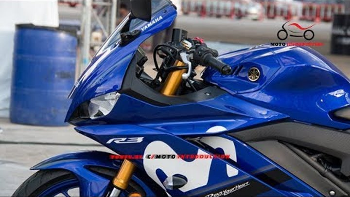 New Yamaha R3 Movistar 2019 MotoGP First Look | 2019 Yamaha R3 Movistar ABS in Thailand