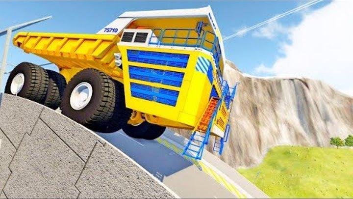 Белаз и трамплин новое видео для детей игра beamng drive