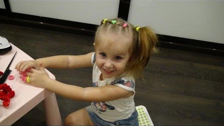 Классная прическа своими руками для 3-летней девочки / Cute Hairstyle For Little Girls!