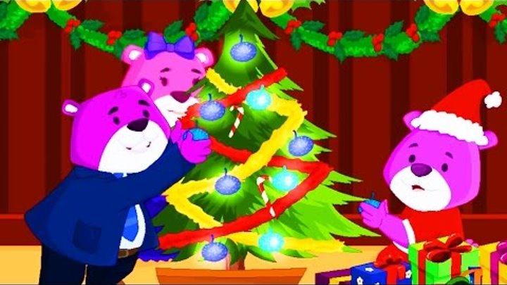 Рождественская История Billie The Bear's Christmas Мультик для детей учим английский язык 2017 видео