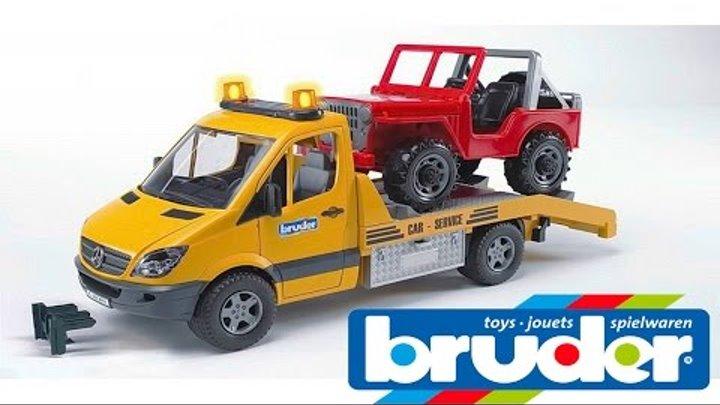 Эвакуатор БРУДЕР Mercedes Benz с Джипом - Игрушки BRUDER для мальчиков