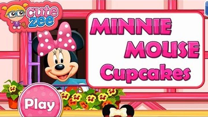 NEW Игры для детей—Минни Маус капкейки—мультик для девочек