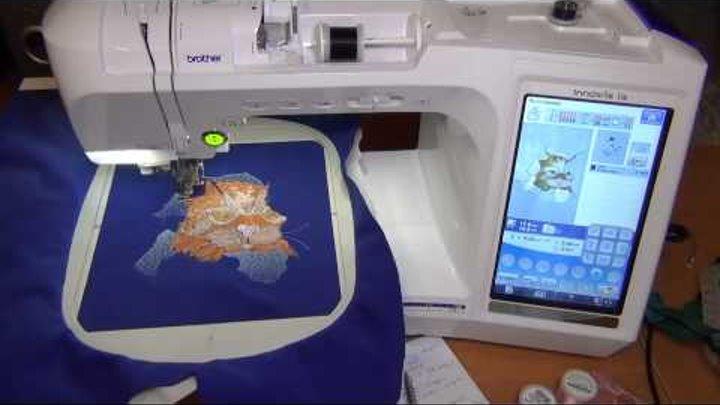 Машинная вышивка на драпе