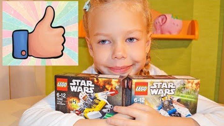 Распаковка LEGO Star Wars Microfighters 4 Два набора на обзор конструктора ЛЕГО Звёздные Войны