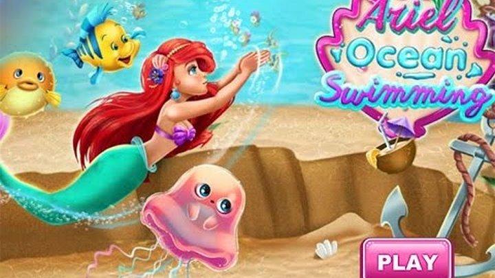 Ариэль Русалка Уход за принцессой Диснея - Ariel Ocean Swimming