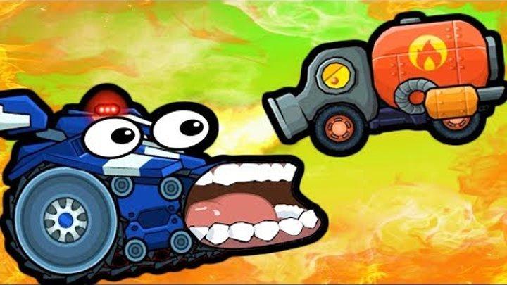 Самый КРУТОЙ и глючный БОСС мультик про машинки Машина Ест Машину 3 в игре погоня хищных машин #ФГТВ