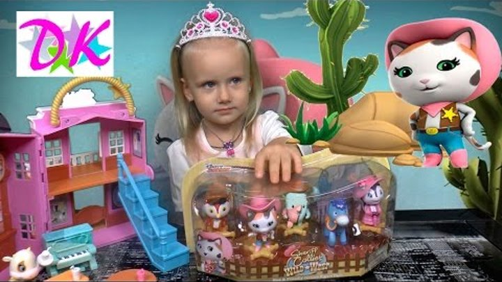 ШЕРИФ КЕЛЛИ и дикий запад на русском Обзор набора игрушек Shirif Callie Junior toys мультфильм