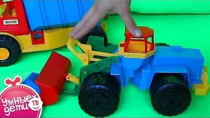 Рабочие машины: Игрушечная машинка для детей трактор погрузчик. TOY TRACTOR Loader. Машинки
