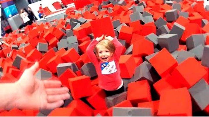 Батутный парк: Прыгаем в кубики, детские батуты и прыжковые батуты