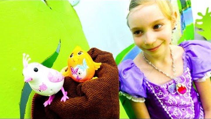 Принцесса СОФИЯ и поющие птички DigiBirds! Видео для девочек про Тайны Жизни Животных. Игры одевалки