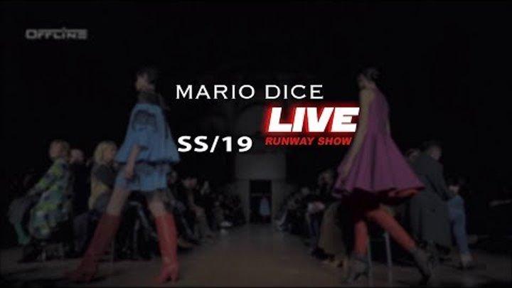 Mario Dice SS19 Milano Fashion Show Live Streaming #MFW #MILANOOFFLINE